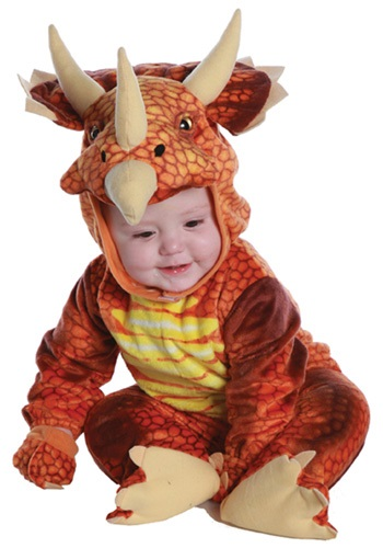 Click Here to buy Baby/Toddler Rust Triceratops Costume from HalloweenCostumes