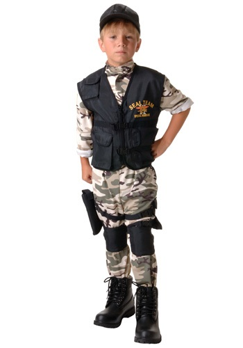 Click Here to buy Kids SEAL Team Costume from HalloweenCostumes, CDN Funds