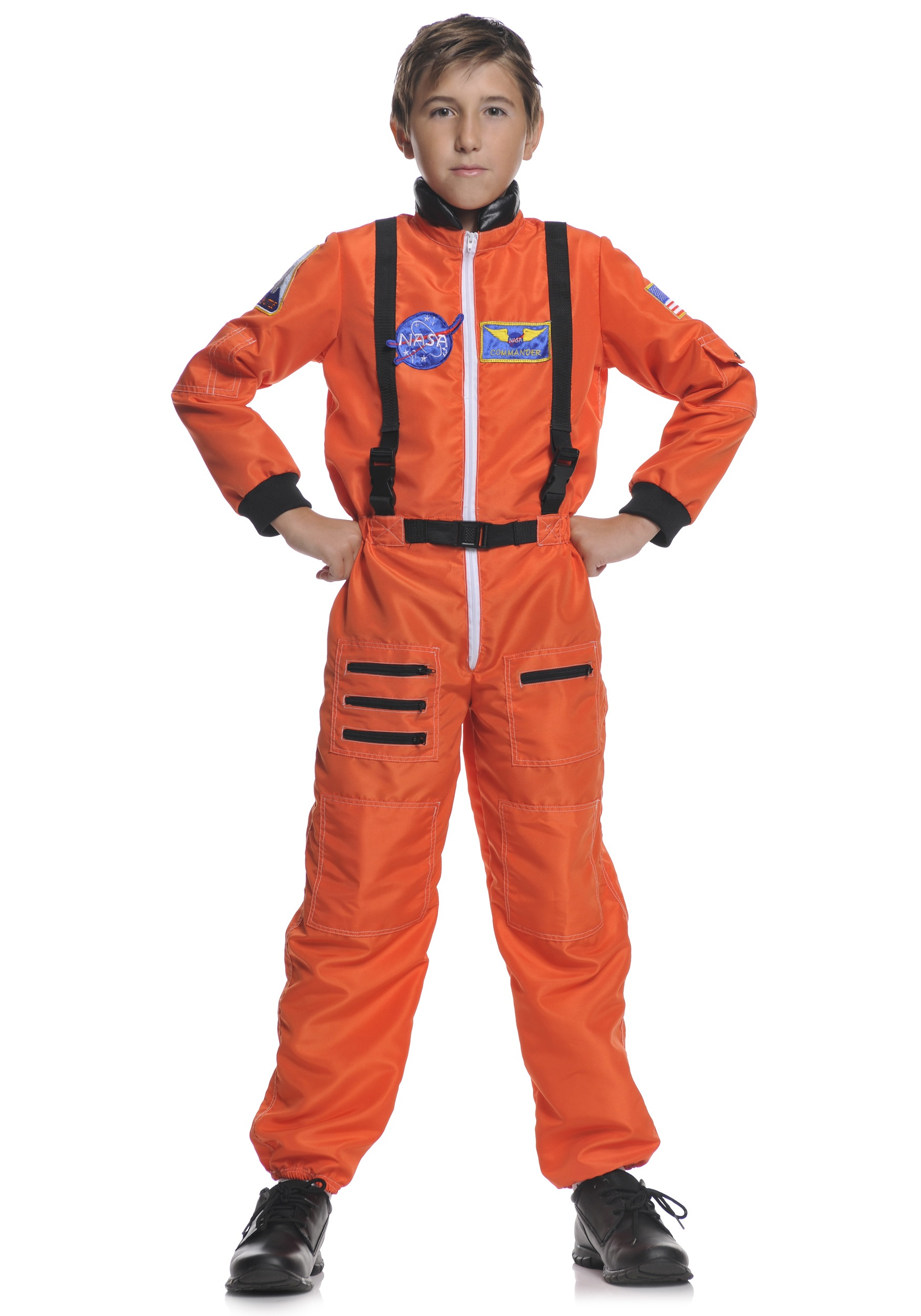 3, 2, 1 Liftoff for Halloween fun! This comfortable costume is styled after real astronauts' uniforms. DETAILS THAT MATTER. Two-piece design includes astronaut.