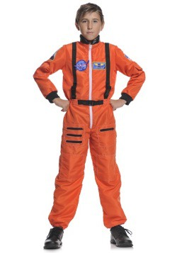 Kids Orange Astronaut Costume