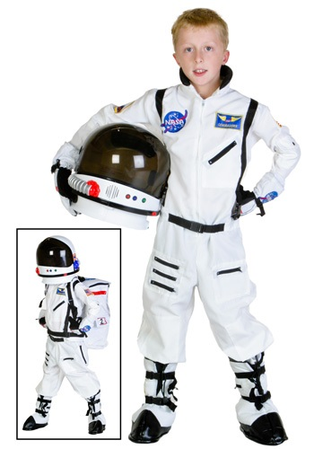 Click Here to buy Kids White Astronaut Costume from HalloweenCostumes, CDN Funds