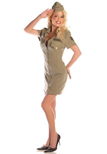 Click Here to buy Sexy Fly Girl Military Costume from HalloweenCostumes, USA Funds & Shipping