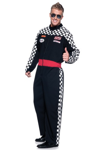 Mens Plus Race Car Driver Costume - Plus Size NASCAR Costumes