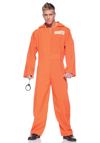 Mens Orange Prison Jumpsuit