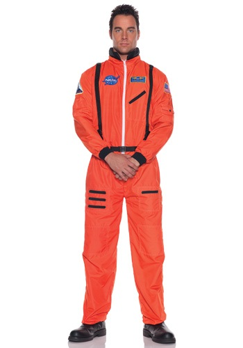 Click Here to buy Mens Orange Astronaut Costume from HalloweenCostumes, USA Funds & Shipping