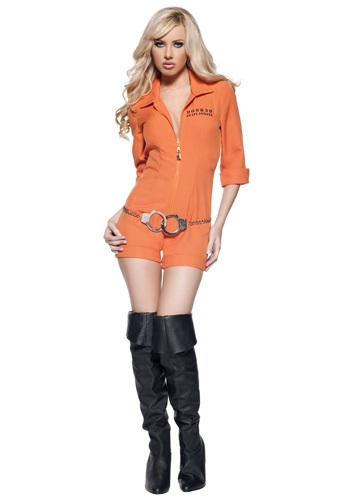 Womens Prison Jumpsuit Costume