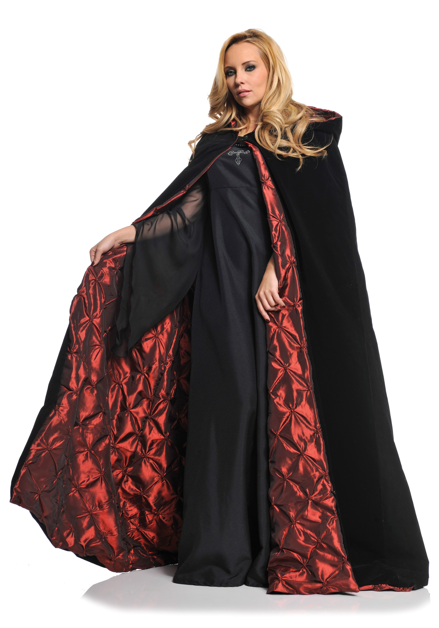 deluxe velvet cape w quilted red lining - Halloween Costumes With A Cape