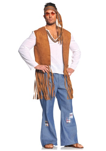 Plus Right On Hippie Costume for Men