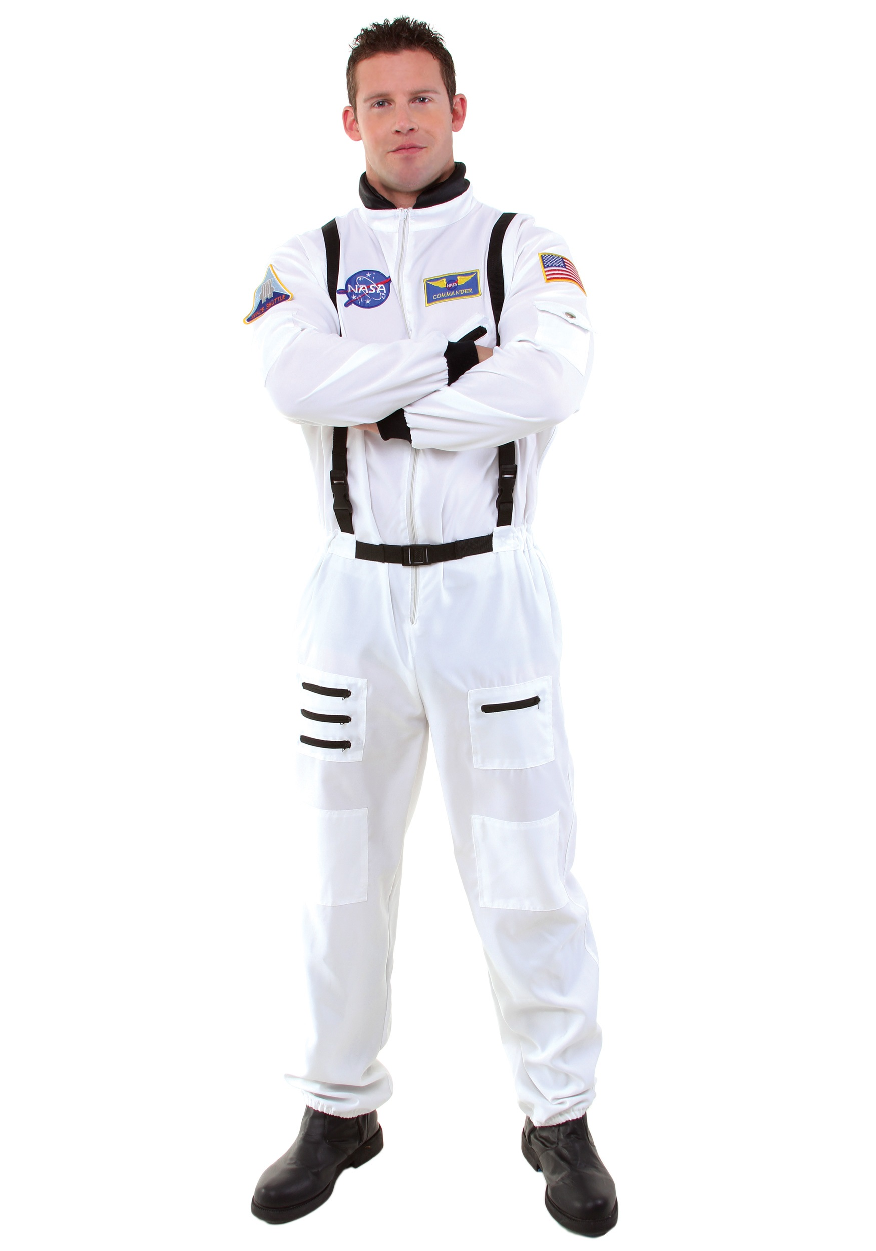 Men's White Astronaut Costume