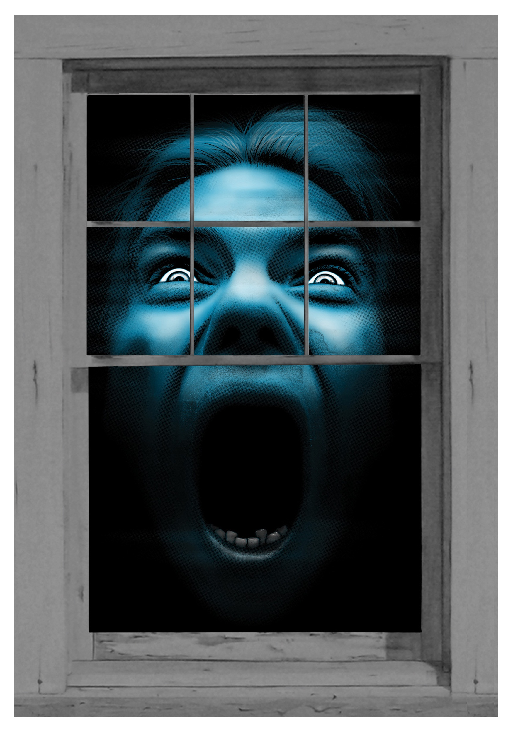 silent shrieker window cling - Halloween Window Clings