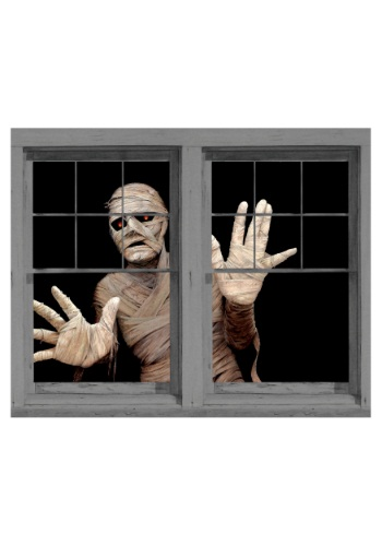 Menacing Mummy Double Window Cling Decoration