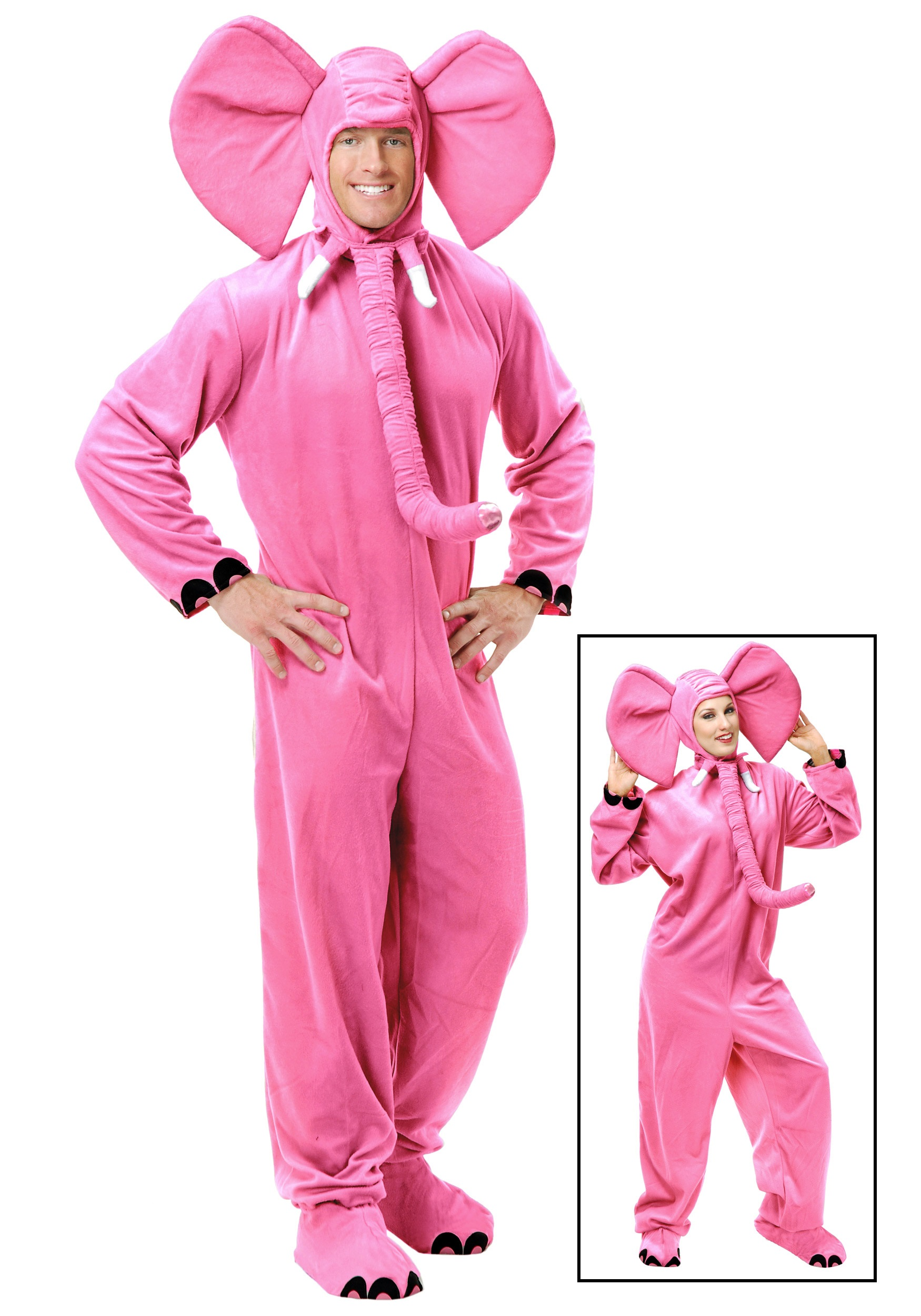 Pink Halloween Costumes For Adults Adult Pink Elephant Costume