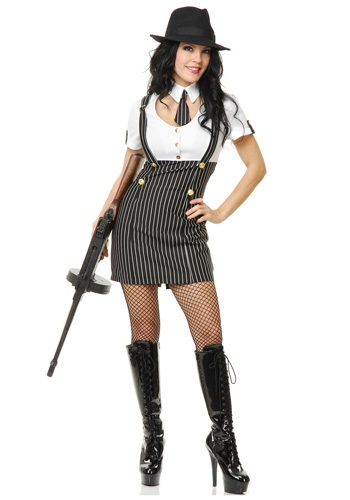 ...wear this Gangster Girl Costume.  Everyone knows that women run the...