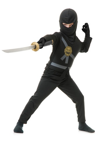 Child Black Ninja Master Costume By: Charades for the 2015 Costume season.