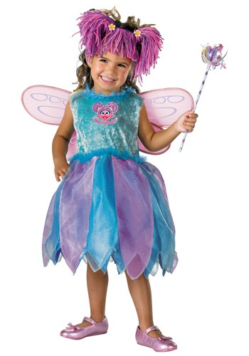 Click Here to buy Deluxe Abby Cadabby Costume - Toddler Muppet Costumes from HalloweenCostumes, CDN Funds