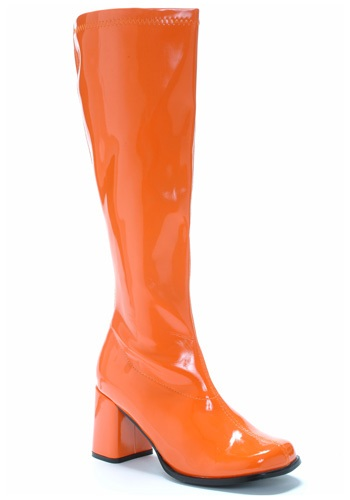 Orange Gogo Boots for Women