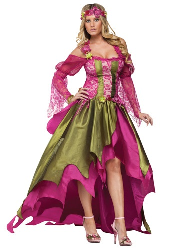 PLUS SIZE FAIRY QUEEN COSTUME - Pretty Pink Women's Halloween Costumes