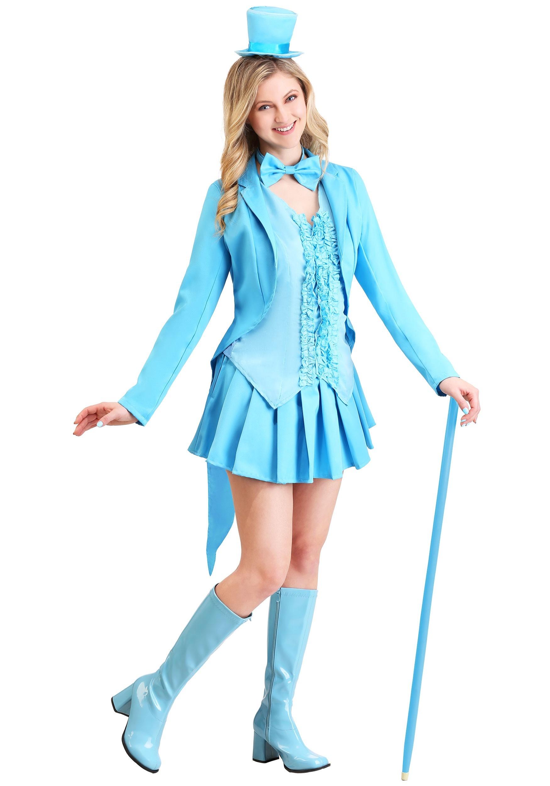 Sexy Blue Tuxedo Costume-9567
