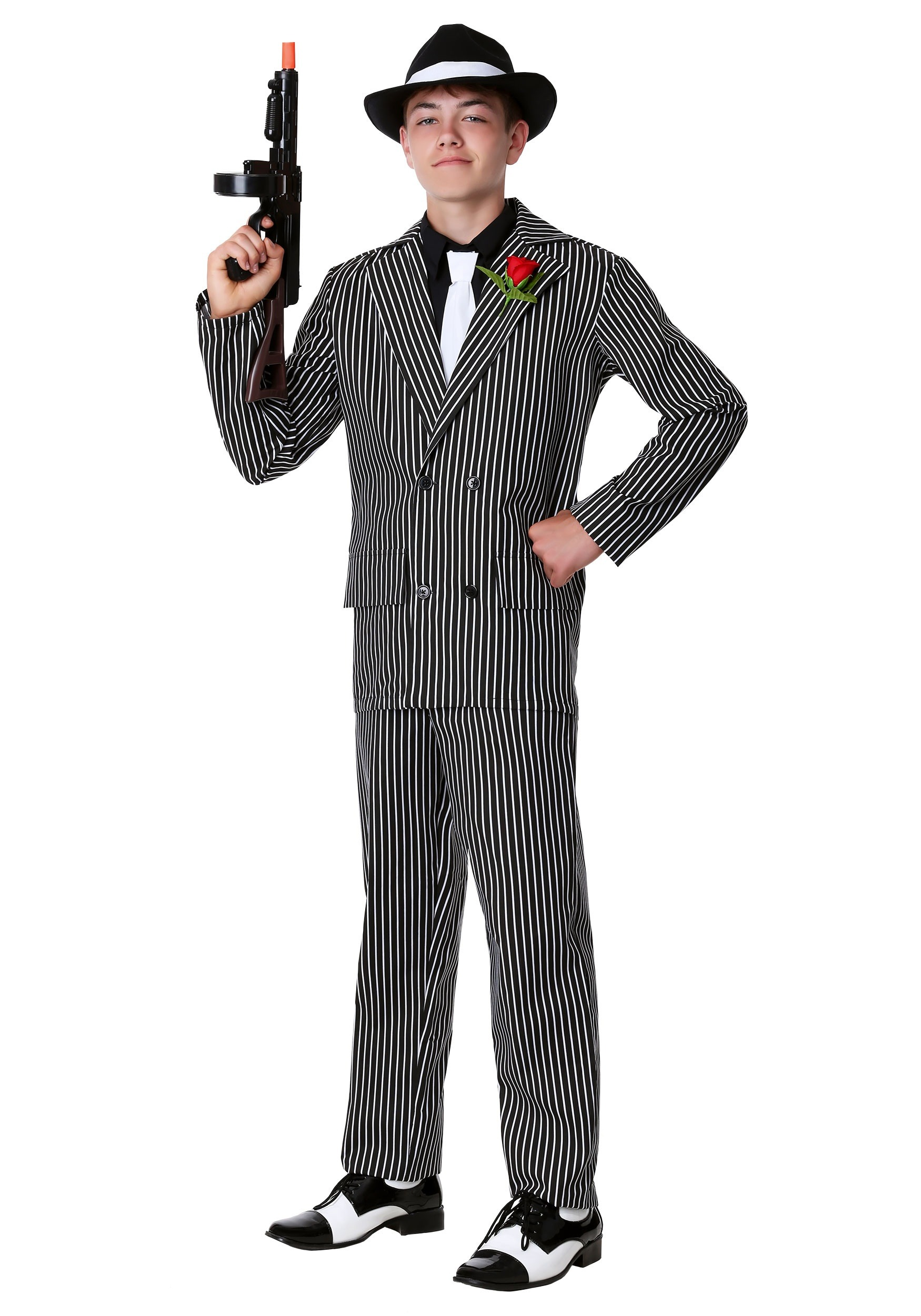 teen deluxe gangster costume - Halloween Mobster Costumes