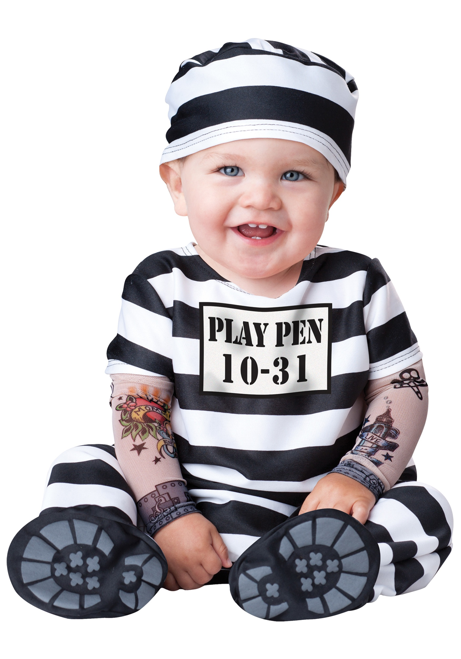 infant time out prisoner costume - Baby Halloween Coatumes