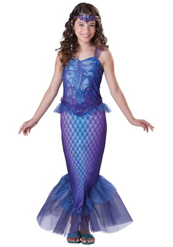 Click Here to buy Tween Mysterious Mermaid Costume from HalloweenCostumes, CDN Funds