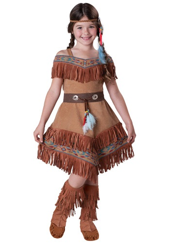 Click Here to buy Kids Native American Maiden Costume from HalloweenCostumes, USA Funds & Shipping
