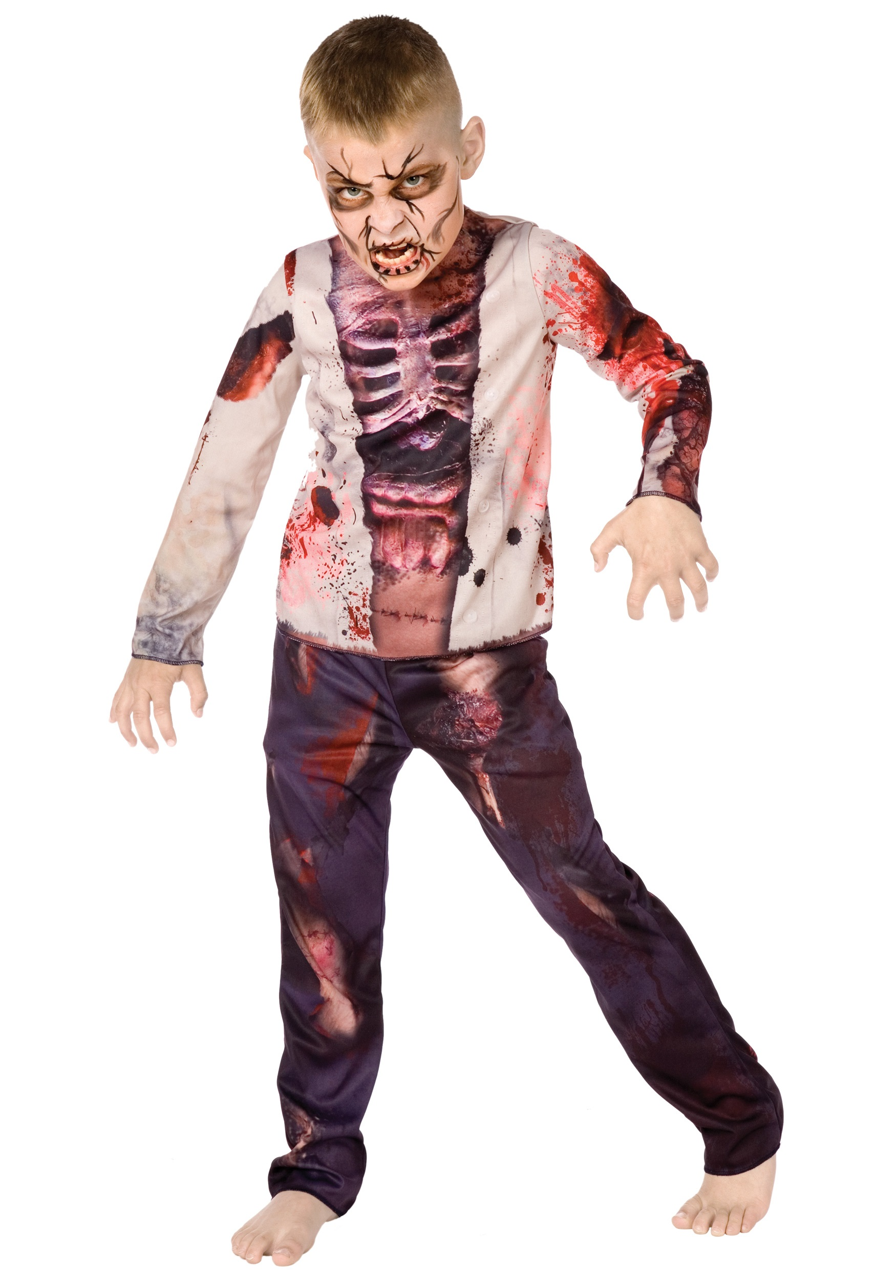Halloween Zombie Costumes For Girls.Boy Zombie Costume