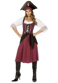 Burgundy Pirate Wench Costume