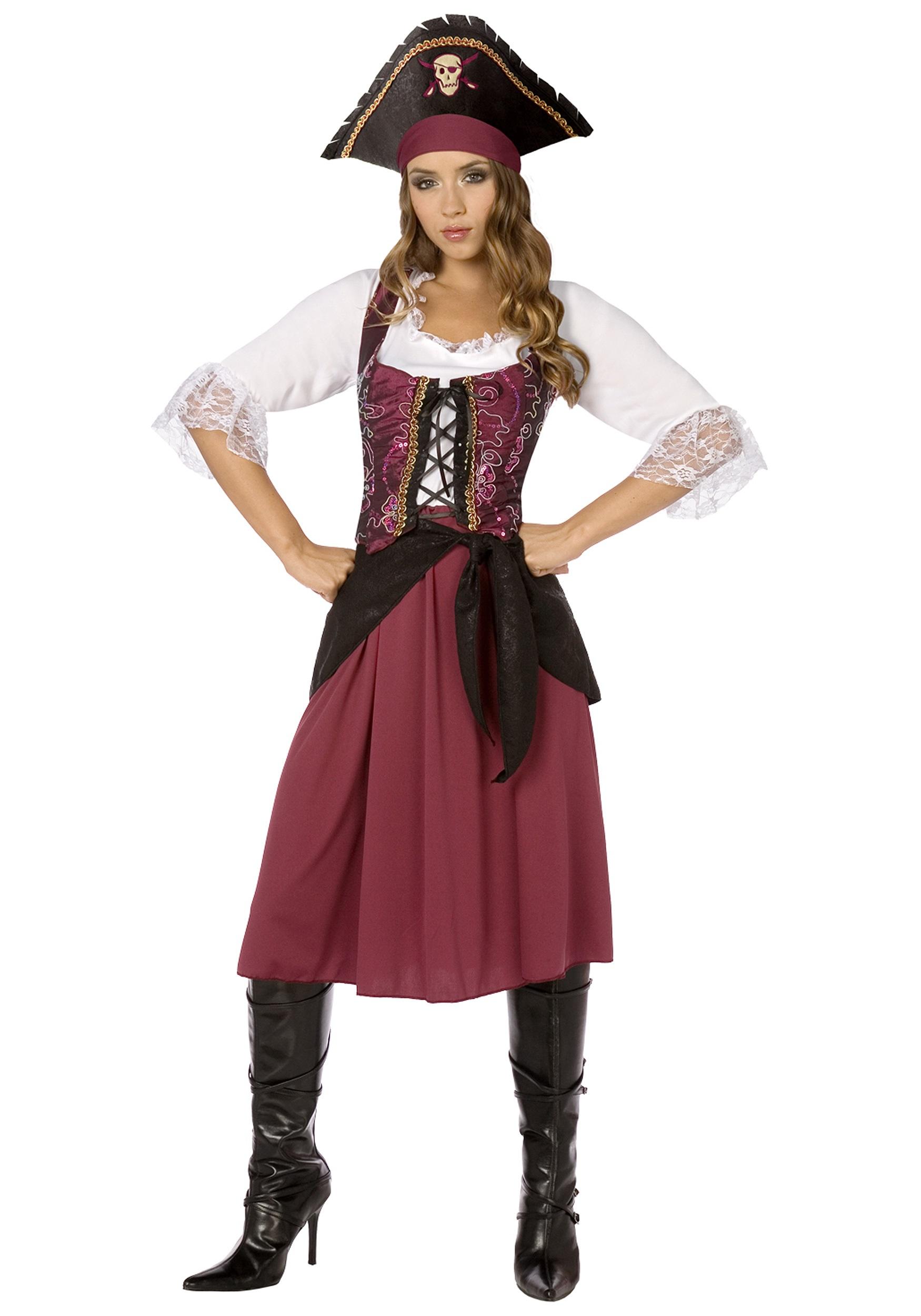 Plus Size Burgundy Pirate Wench Costume 1x 2x 3x 4x