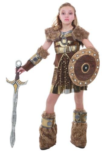 Click Here to buy Tween Hildagaard Viking Costume from HalloweenCostumes, CDN Funds