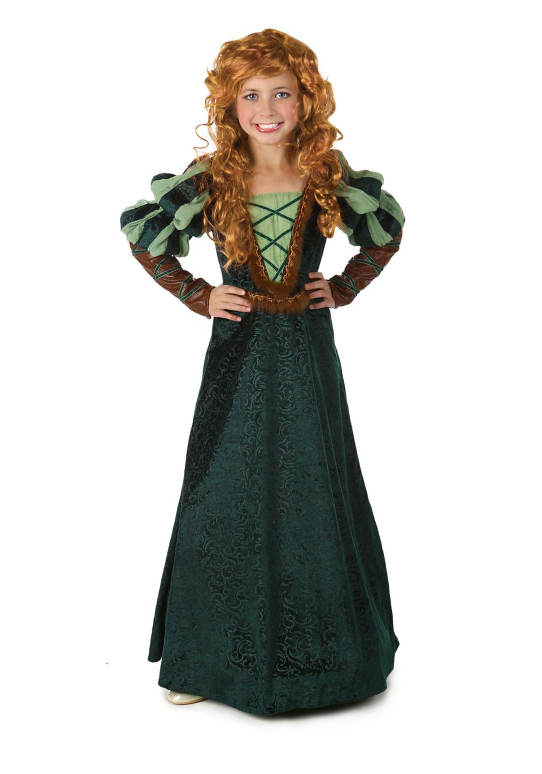child courageous forest princess costume