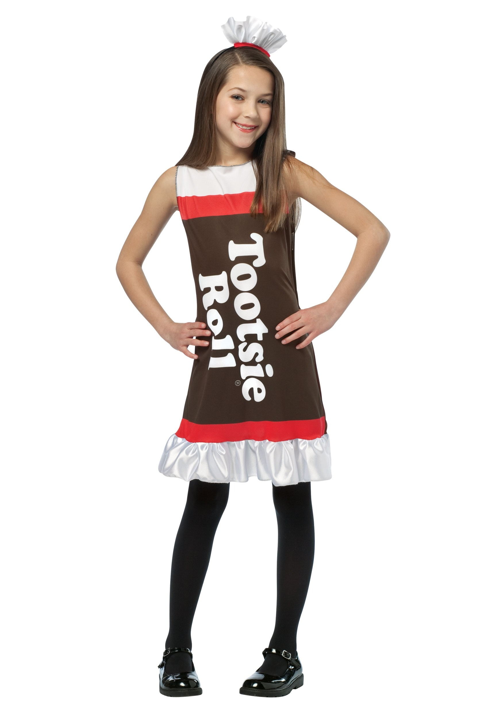 Girls Tootsie Roll Dress  sc 1 st  Halloween Costumes & Candy Costumes - Candy Bar Costumes Sexy Candy Costumes