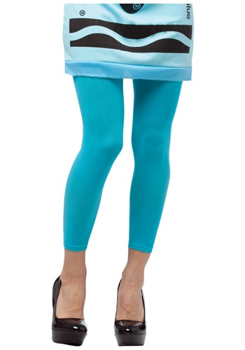 Sky Blue Crayon Footless Tights RA458103-ST