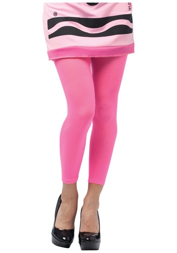 Click Here to buy Tickle Me Pink Crayon Footless Tights from HalloweenCostumes, CDN Funds