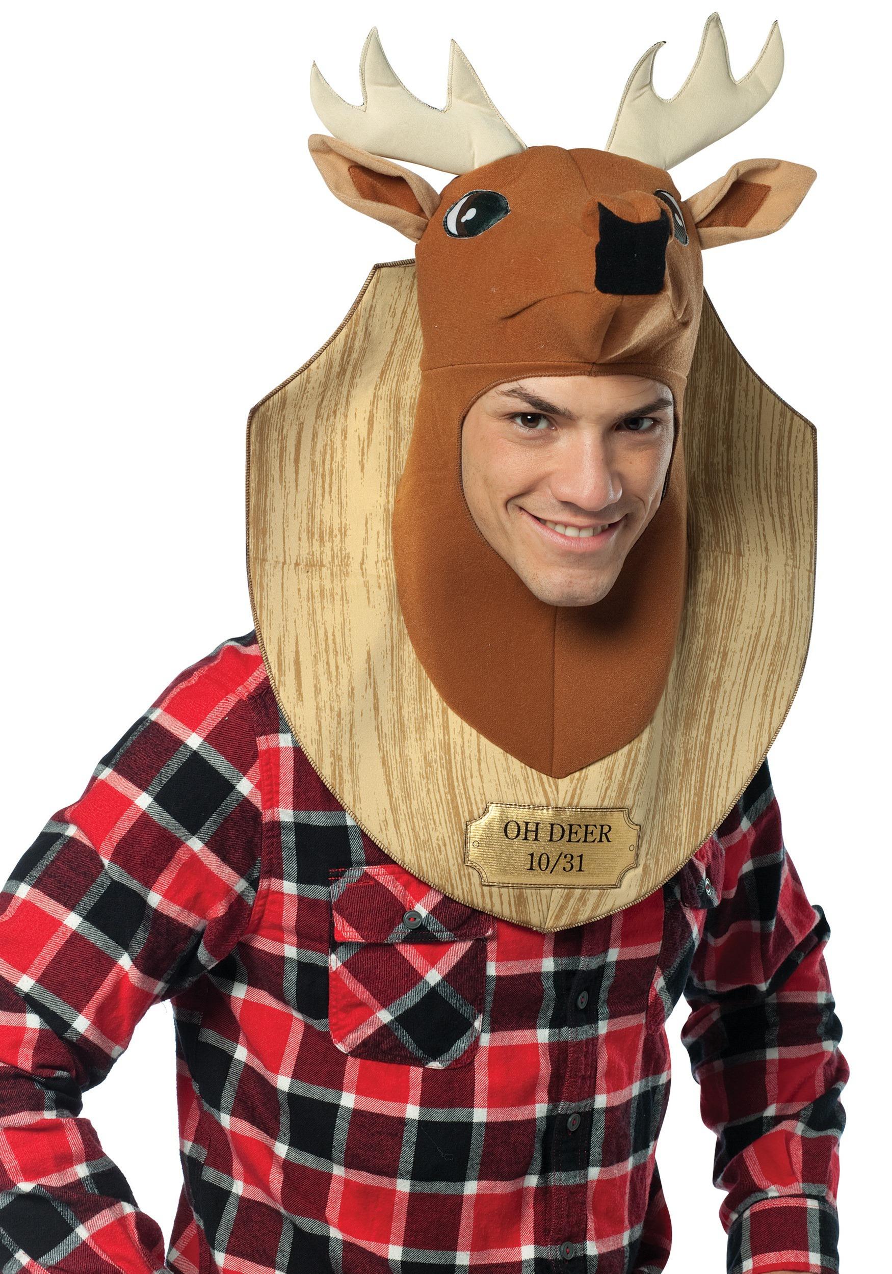 trophy head oh deer costume. Black Bedroom Furniture Sets. Home Design Ideas