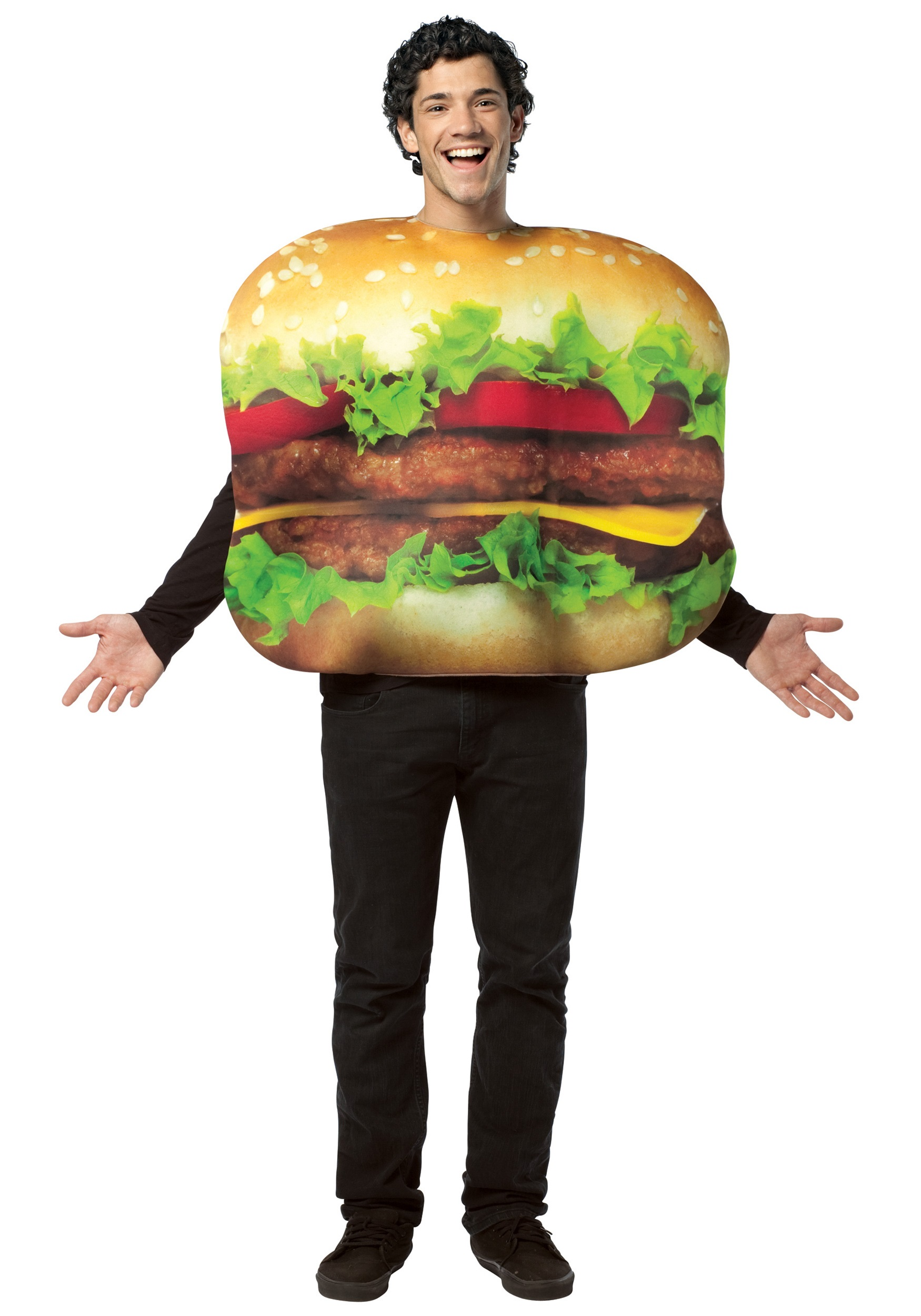 adult cheeseburger costume. Black Bedroom Furniture Sets. Home Design Ideas