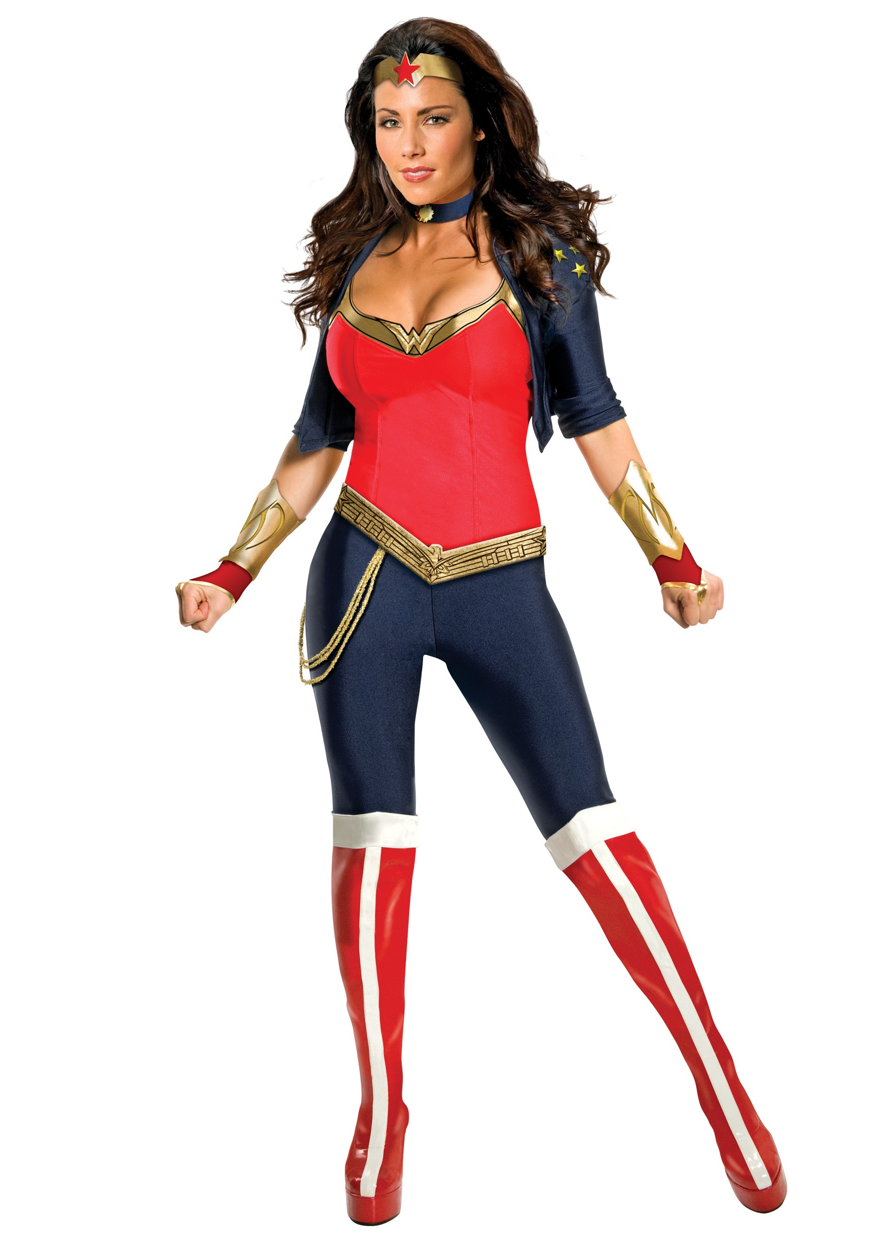 Wonder Woman costume dress, cape, fabric headband, wristlets, belt, and Dc Comics Wonder Woman Warrior Corset and Skirt Costume Set. by Underboss. $ $ 64 95 Prime. FREE Shipping on eligible orders. Some sizes are Prime eligible. out of 5 stars Product Features Foil Wonder Woman logo.