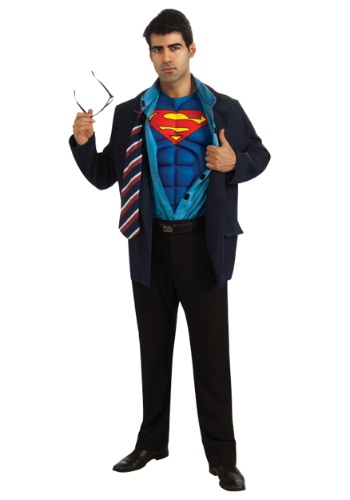 Click Here to buy Adult Superman Clark Kent Costume from HalloweenCostumes, CDN Funds