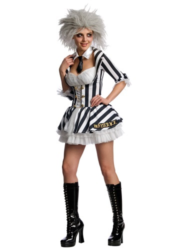 Click Here to buy Sexy Beetlejuice Costume from HalloweenCostumes, USA Funds & Shipping