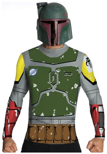 Star Wars Boba Fett Top And Mask Adult Costume