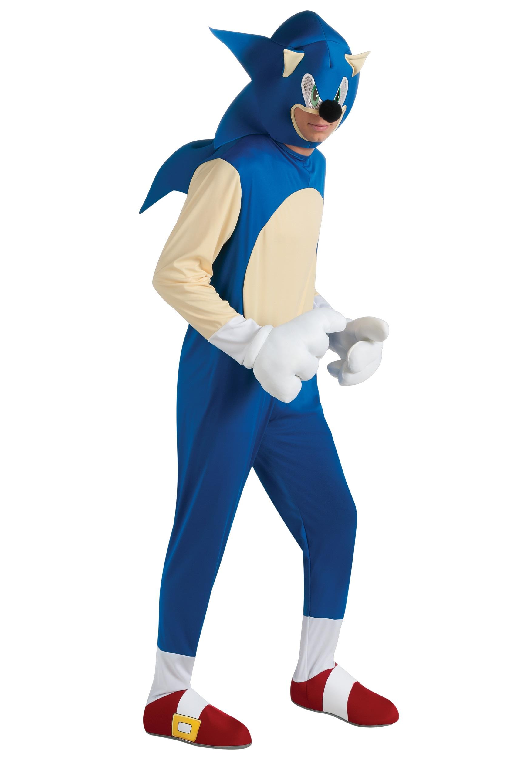 sc 1 st  Halloween Costumes & Adult Deluxe Sonic Costume