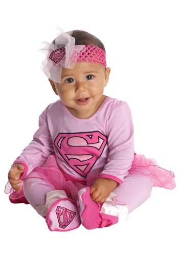 Click Here to buy Supergirl Onesie from HalloweenCostumes, USA Funds & Shipping