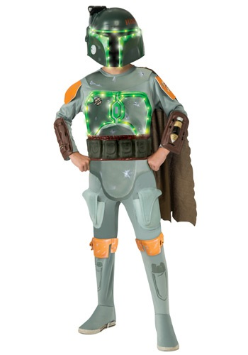 Child Deluxe Light Up Boba Fett Costume By: Rubies Costume Co. Inc for the 2015 Costume season.