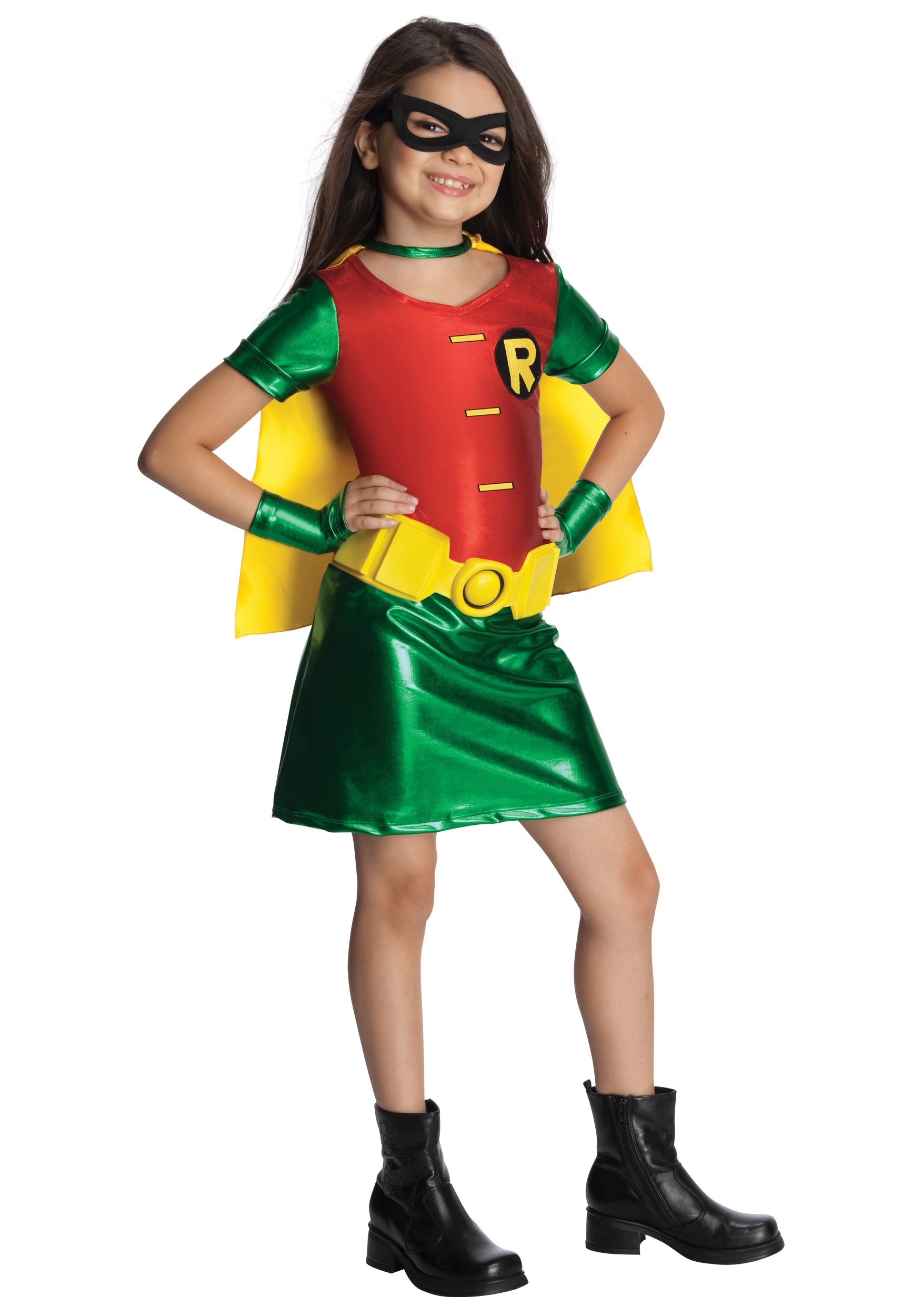 sc 1 st  Halloween Costumes & Girls Titans Robin Costume