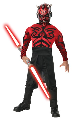 Child Deluxe Muscle Chest Darth Maul Costume By: Rubies Costume Co. Inc for the 2015 Costume season.