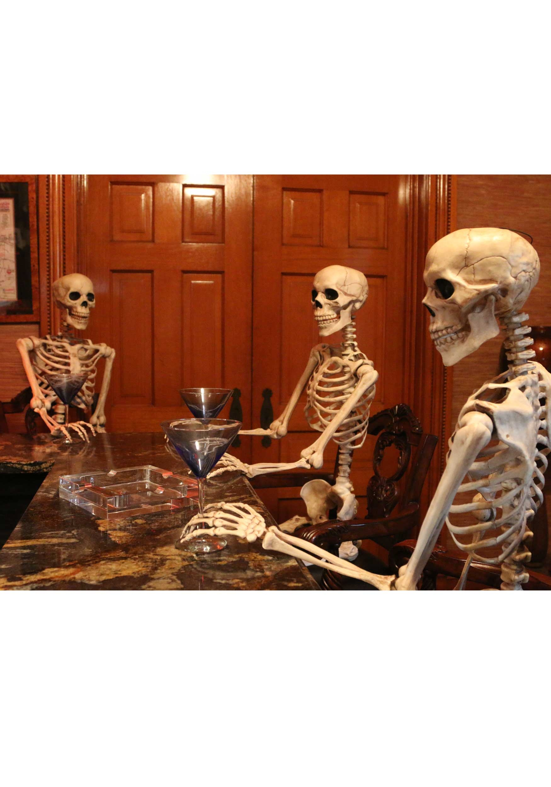 Lifesize Posable Skeleton - Skeleton Halloween Decorations