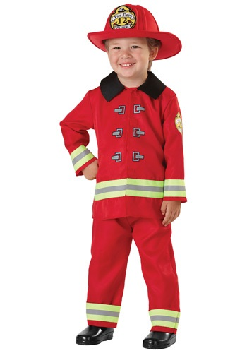 Click Here to buy Kids Fireman Costume from HalloweenCostumes, USA Funds & Shipping