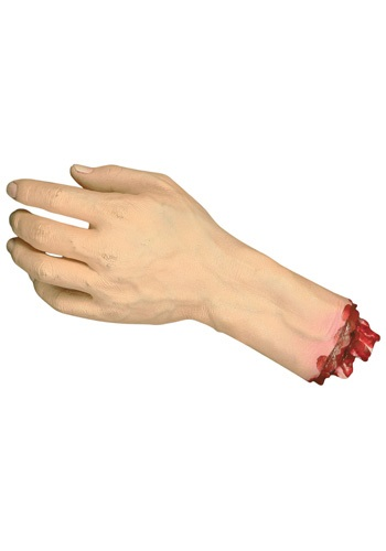 Life Size Severed Hand Decoration By: Seasons (HK) Ltd. for the 2015 Costume season.