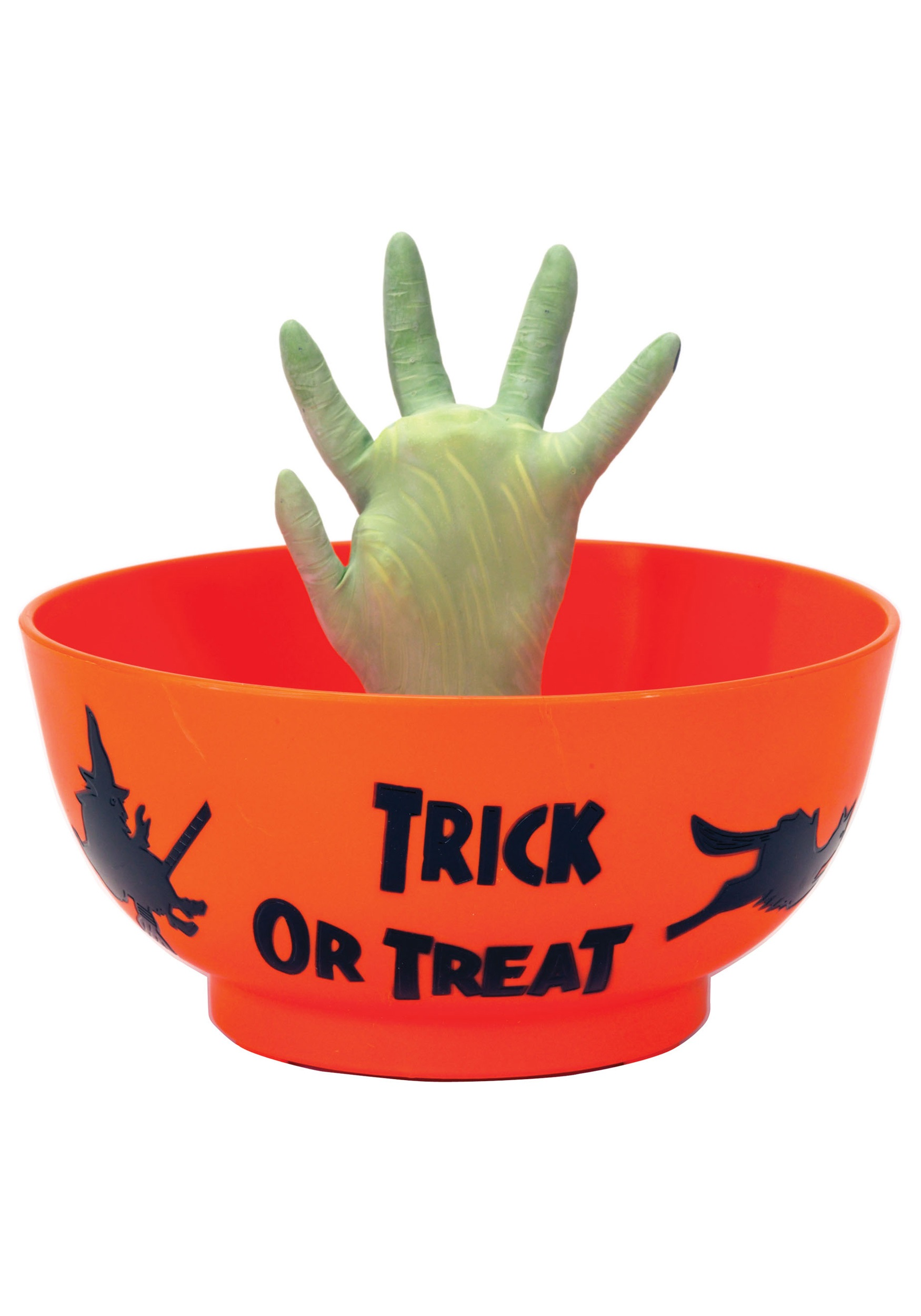 animated monster hand in bowl - Animated Halloween Decorations