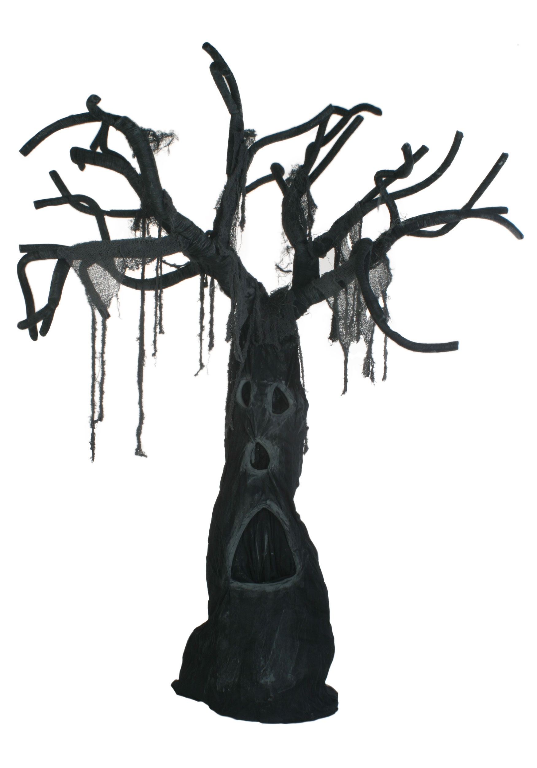 Christmas outdoor window decoration ideas - Tree With Open Mouth Scary Tree Forest Decoration